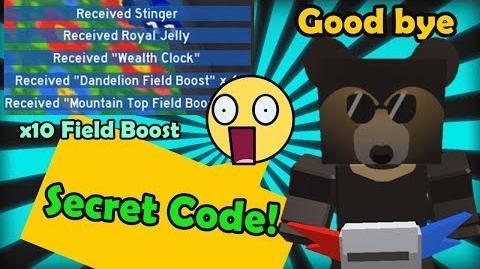 Sun Bear Gave Us Final Secret Code! Good Bye Sun Bear - Bee Swarm Simulator