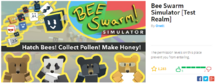 Bee swarm simulator test realm-0
