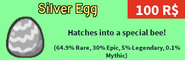 Silver Egg-Robux