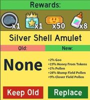Silver Shell Amulet