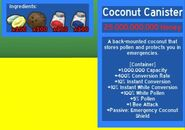 Coconut canister