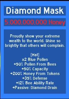 Diamond Mask Bee Swarm Simulator Wiki Fandom