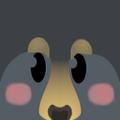 Black cub face