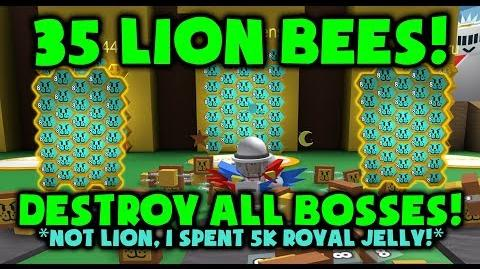 35 LION BEES!?! DESTROY EVERYTHING! Roblox Bee Swarm Simulator