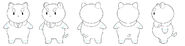 Tumblr puppycat standing turn