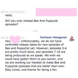 Message from Cartoon Hangover
