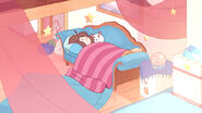 Bee and PuppyCat asleep
