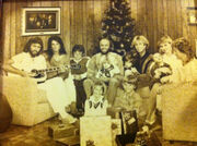 The Gibb Family at home