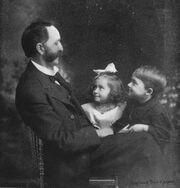 William Z. Hutchinson, apiarist (with grandchildren)