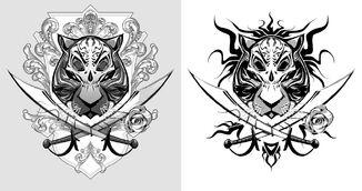 Tiger Pirate tattoo by biz02