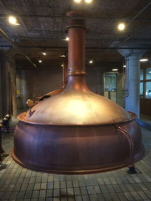 Anchor Brewing Company copper kettle