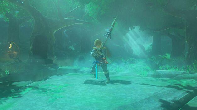 Zelda Breath of the Wild Master Sword with Link