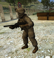 MP7 held by Militia player
