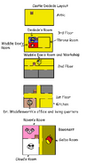 Castle dedede layout (chapters 2 to 6)