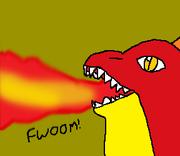 Giant Galbo fire breath