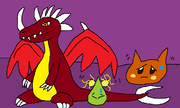Dracolos, Spark and Scarfy