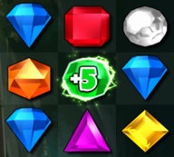 Bejeweled 3 Time Gem +5