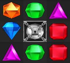 Bejeweled Twist Locked Gem