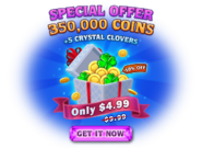 Special Crystal Clover and Coins offer