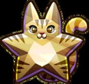 Gold Star Cat
