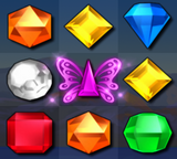 Bejeweled 3 Violet Butterfly