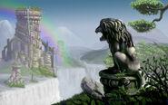 Lion tower cascade