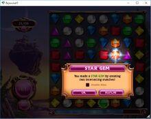 Bejeweled 3 StarGem Mesagge