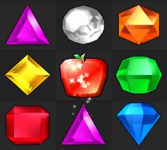 Bejeweled Twist Red Fruit Gem