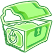 Icon buried treasure