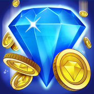 Bejeweled Blitz Square Icon (Coin)