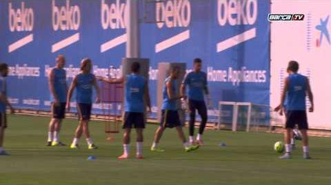 FC Barcelona training session Final training before leaving for the USA