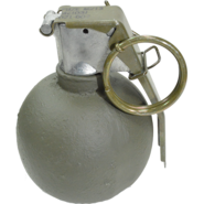 Polished Painted M67 Baseball Hand Grenade