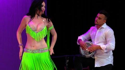 Belly dance drum solo Shahrzad & Marshall Bodiker