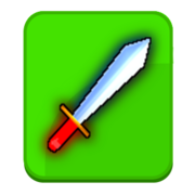 Toy sword button