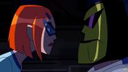 Gwen reta a Bullfrag a un Duelo de Miradas