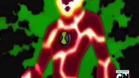 Ben 10 Ultimate Alien 10-Year-Old Ben Heatblast Transformation