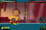 Enormossauro Supremo disparando em Bloxx
