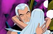 Spellbinder abrazando a su hija
