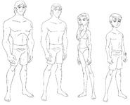 Kevin UAF, Gwen UAF, Ben UAF swimsuits