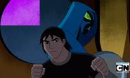 Kevin y Frío espalda con espalda