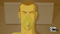 Seis inconciente con máscara de oxigeno...