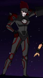 Corpo completo de Rojo na série original