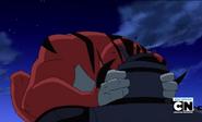 Rath atacando a cabezasos al robot xD