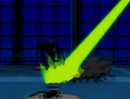 Darkstar siendo afectado por el rayo de jetray