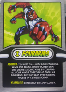 Four Arms Cereal Card