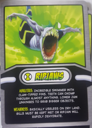 Ripjaws Cereal Card