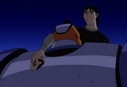 Kevin poniendo la mascara en Vulkanus