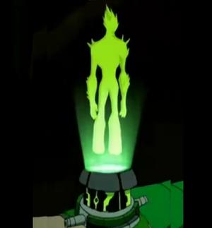 Holograma de fuego pantanoso