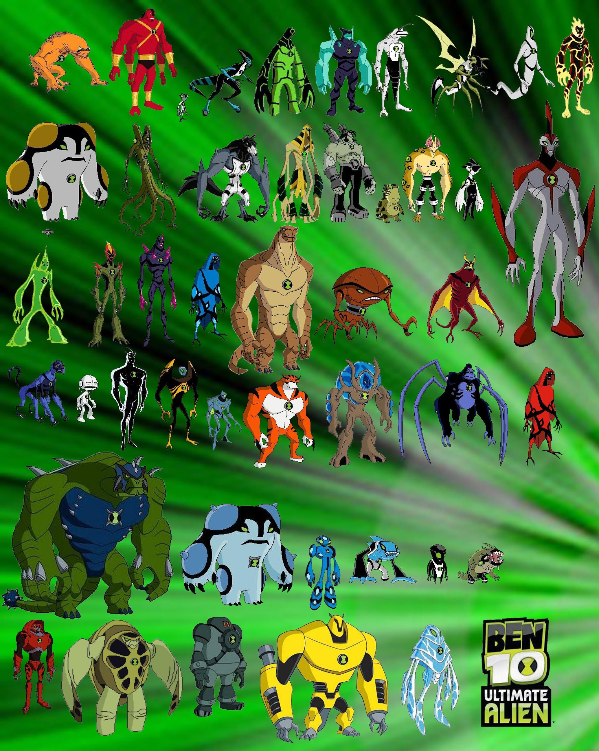 Imagen - Todos los aliens de ben 10 ultimate alien.jpg   Ben 10 Wiki ...