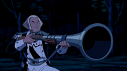 George Washington apontando sua arma